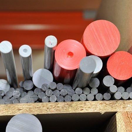 Materialien der K&B Kunststoffdreherei